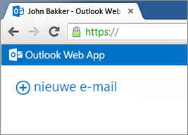 hosted exchange nieuwe email