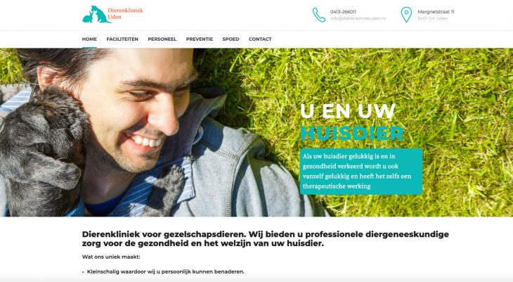Website Dierenkliniekuden.nl